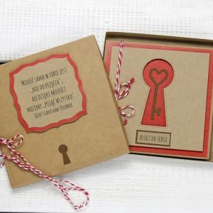 Kartka ślubna/miłosna w pudełku (ks147)