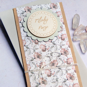 kartka ślubna : pastelowa