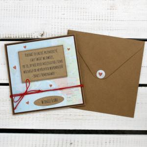 Kartka ślubna w kopercie (ks7)