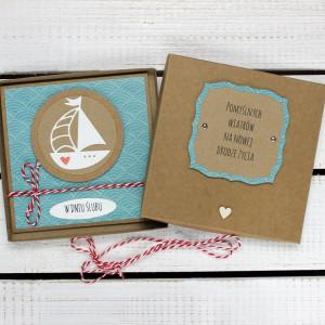 Kartka ślubna w pudełku (ks6)