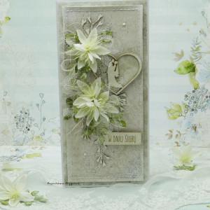 Kartka ślubna z młodą parą vol.4  w pudełku