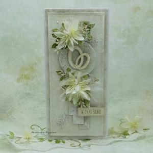 Kartka ślubna z obrączkami vol.2 w pudełku