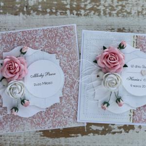 Kartka ślubna z pudełkiem kwiaty 11f