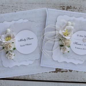 Kartka ślubna z pudełkiem kwiaty 11k