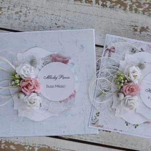 Kartka ślubna z pudełkiem kwiaty 11p