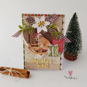 Kartka Świąteczna - buldog