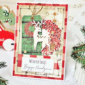 Kartka świąteczna - jelonek