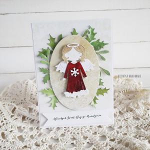 Kartka świąteczna z aniołkiem, 541