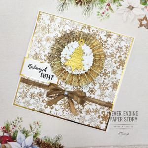 Kartka Świąteczna z Rozetką