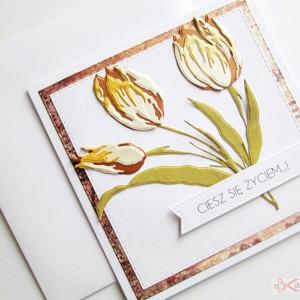 Kartka Uniwersalna - tulipany