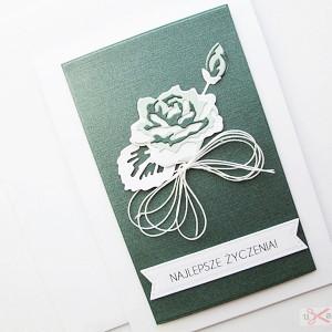 Kartka UNIWERSALNA - zielona róża
