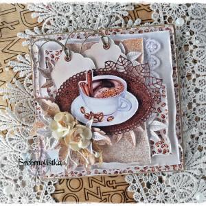 Kartka  urodziny imieniny vol. 64 z kawą