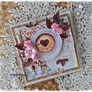 Kartka  urodziny imieniny vol. 65 z kawą