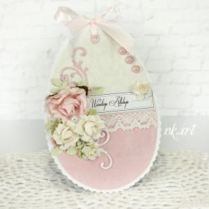 Kartka wielkanocna w kształcie jajka