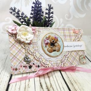 Kartka z okazji narodzin dla dziewczynki (k49)