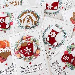 Kartki na Boże Narodzenie (6 szt) Świąteczne