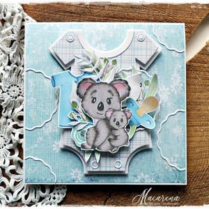 Koala dla chłopca - kartka dziecięca