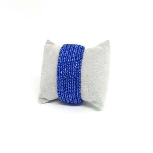 Kobaltowa bransoletka z koralików