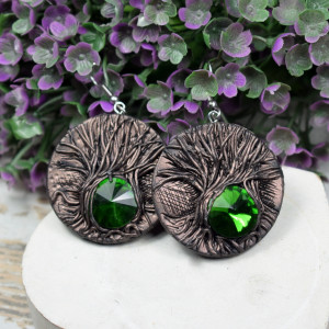 Koczyki MAgic Forest Green