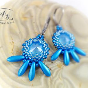 Kolczyki Blue z kryształami Swarovskiego
