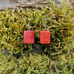 Kolczyki kamyki (czerwone) #1