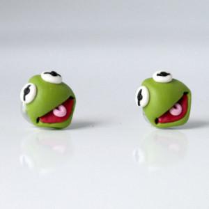 Kolczyki Kermit Żaba - Muppety