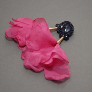 kolczyki / klipsy sutasz z kwiatkiem 123