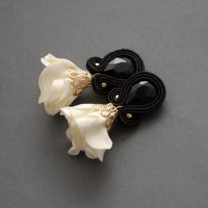 kolczyki / klipsy sutasz z kwiatkiem 23