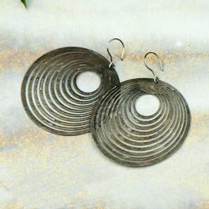 Kolczyki koła w kolorze srebrnym Ejrene c710-kol-s