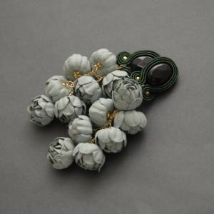 kolczyki lub klipsy sutasz z kwiatami 3