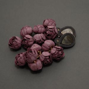 kolczyki lub klipsy sutasz z kwiatami 9