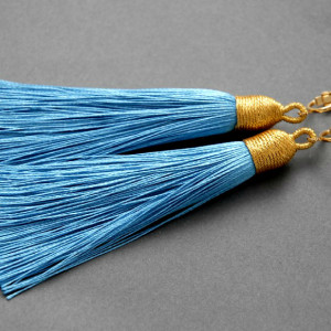 kolczyki lub klipsy z chwostami (błękitne)