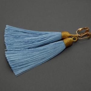 kolczyki lub klipsy z chwostami (niebieskie 1)