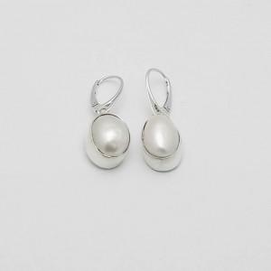 Kolczyki perła w srebrze