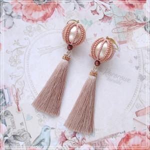 Kolczyki perły z chwostami