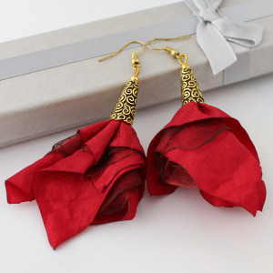 Kolczyki Silk czerwone