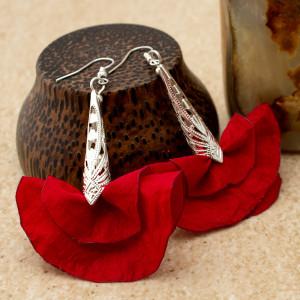 Kolczyki Silk Czerwone Wachlarze