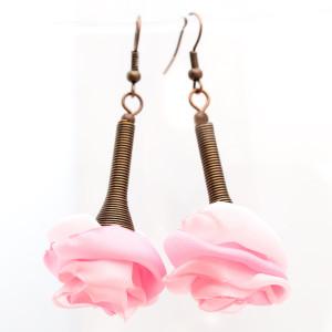 Kolczyki Silk Róże