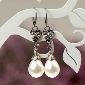 Kolczyki srebrne Emma z perłami Seashell a796-kol