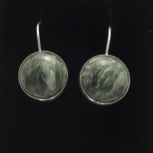 Kolczyki srebro i serafinit