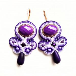 Kolczyki sutasz Purple