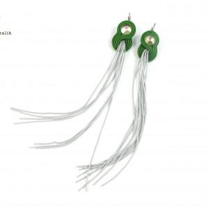 Kolczyki sutasz zielone długie
