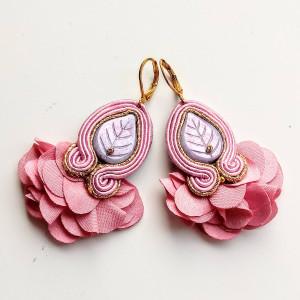 Kolczyki sutaszowe Dancer - Sweet Pink