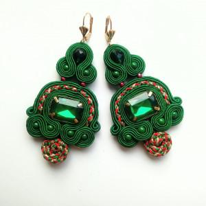 Kolczyki sutaszowe Emerald