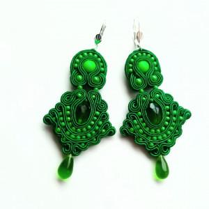 Kolczyki sutaszowe Green&Green
