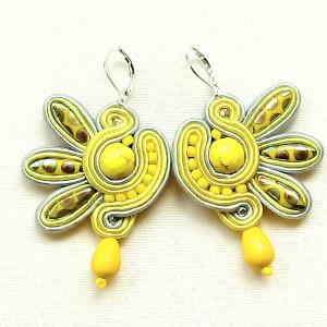 Kolczyki sutaszowe Lemon Dragonfly
