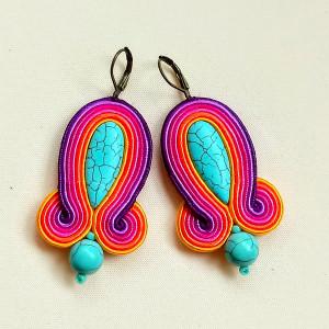 Kolczyki sutaszowe Multicolor