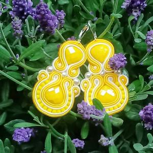 Kolczyki sutaszowe Yellow