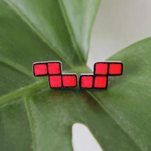 Kolczyki tetris