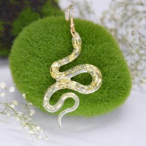 Kolczyki Węże - gładkie płatki złota 03